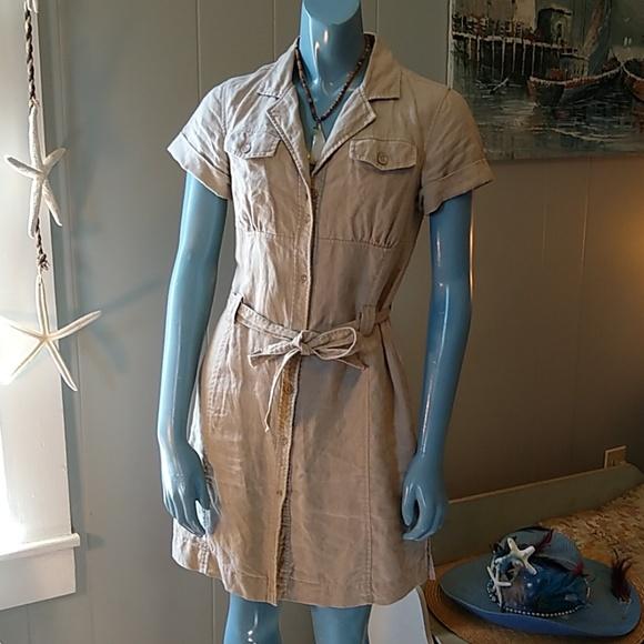 Musto Dresses & Skirts - Musto Sample Khaki Safari Shirtdress